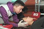 Учащиеся средней школы №5 Бишкека отработали навыки эвакуации при чрезвычайных ситуациях