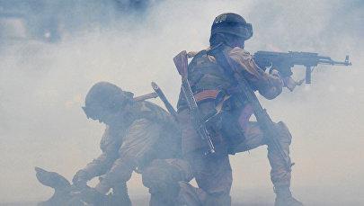 Празднование 22-й годовщины вооруженных сил Кыргызстана