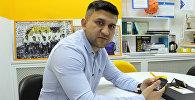 Шеф-повар из Узбекистана Умид Юлдашев во время интервью Sputnik Кыргызстан