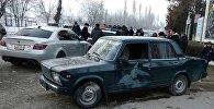 Автомобиль на котором был совершено наезд на четырех учителей в городе Кербен