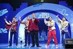 Кыргызстанская команда КВН Азия MIX на конкурсной игре Клуба веселых и находчивых Кубок дружбы в Узбекистане. Архивное фото