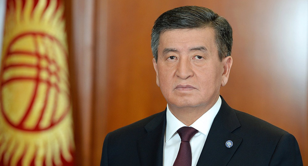Архивное фото президента Кыргызстана Сооронбая Жээнбекова. Архивное фото
