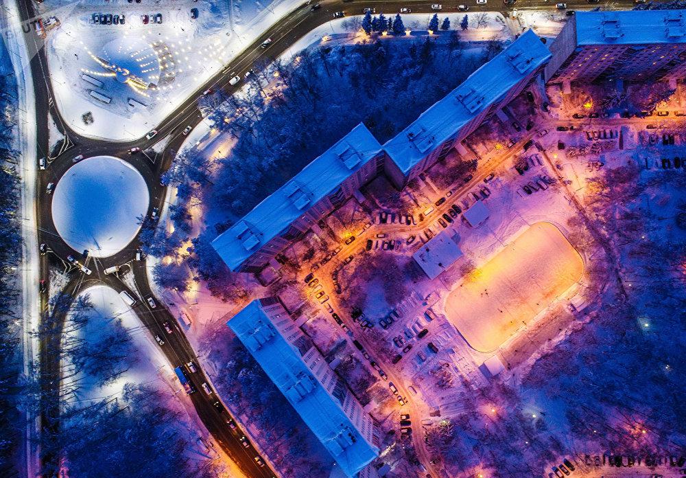 Триоцк шаардык округундагы Солнечная көчөсү (Жаңы Москва)