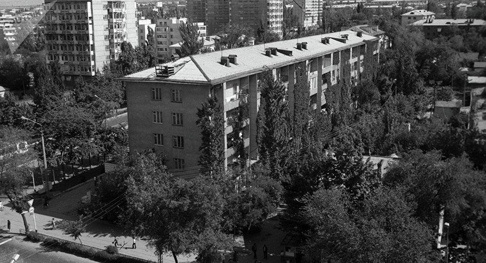 Жилые дома в городе Фрунзе. 1977 год. Архивное фото