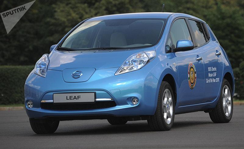 Российская презентация первого электромобиля Nissan Leaf