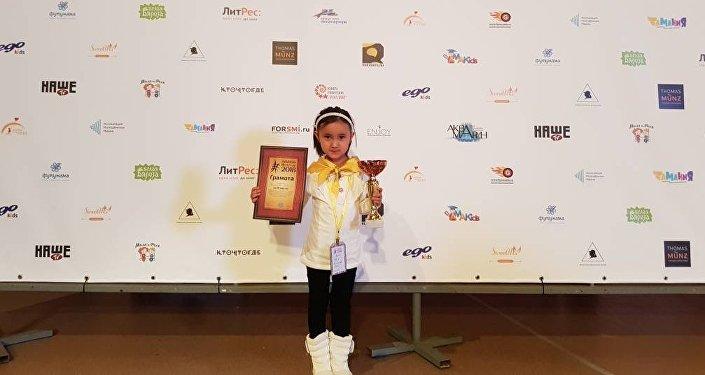 Шестилетняя кыргызстанка Акак Камелова заняла третье место в Чемпионате мира по ментальной арифметике АМАKids World Cup 2018