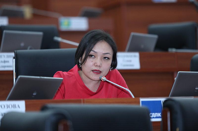 Депутат Жогорку Кенеша от фракции СДПК Аида Касымалиева