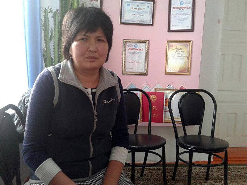 Воспитательница в детском саду №14 Нургүл Сыдыкова