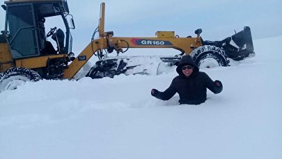 На Иссык-Куле выпало большое количество осадков, высота снежного покрова местами достигает 50 сантиметров