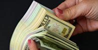 Долларовые купюры разного номинала и разной валюты. Архивное фото