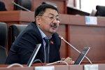 Жогорку Кеңештин Кыргызстан фракциясынын депутаты Алмазбек Токторов. Архивдик сүрөт