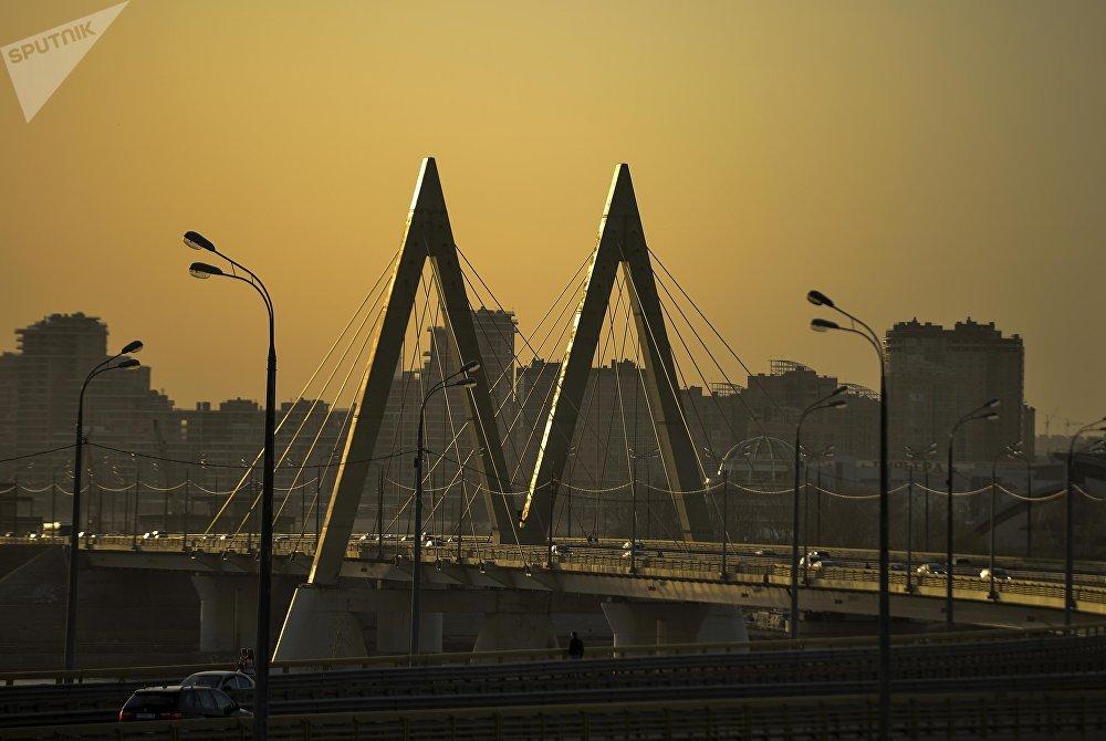 Вантовый мост Миллениум в Казани