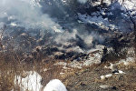Бензовоз Reno упал и сгорел в реке Чычкан
