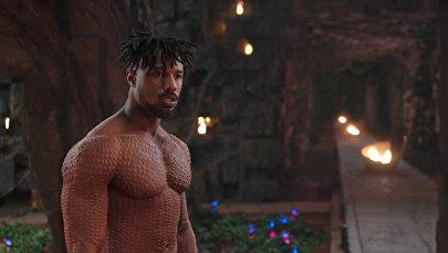 Актер Майкл Б. Джордан в сцене из фильма Черная пантера от Marvel Studios.