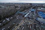 Вид на улицу Шабдан-Баатыра с воздуха в Бишкеке. Архивное фото
