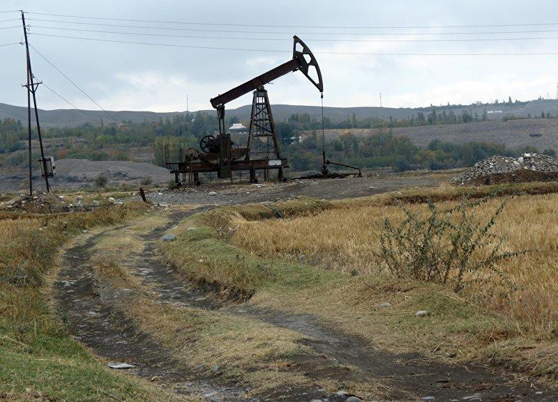 Скважинные насосы-качалки — село стоит на краю небольшого и старого месторождения нефти