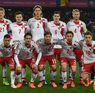 Игроки сборной Дании. Архивное фото