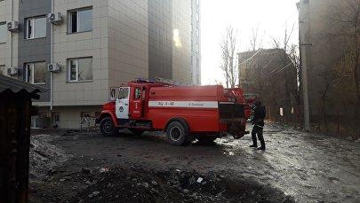 Пожар в жилом доме на пересечении улиц Туголбая Ата и Гоголя