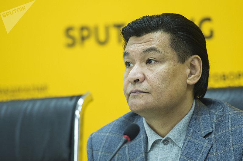 Председатель комитета Торгово-промышленной палаты КР Рахимов Кубат на пресс-конференции в мультимедийном пресс-центре Sputnik Кыргызстан