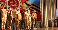 На территории авиабазы ОДКБ Кант к Дню защитника Отечества состоялся концерт с праздничной военно-юмористической программой для детей