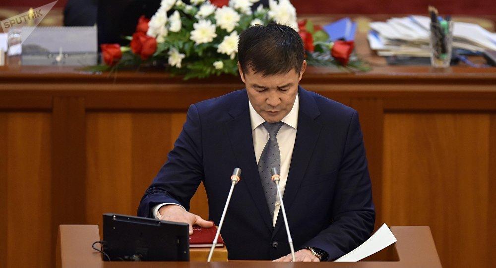 Кыргызстан фракциясынын депутаты Таалайбек Масабиров. Архив
