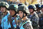 Совместные учения с миротворческим контингентом государств-участников ОДКБ. Архивное фото