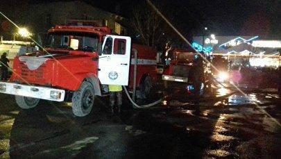 Пожар в центре отдыха Причал 24 в Бишкеке