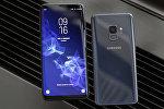 Samsung Samsung Galaxy S9 и Galaxy S9 Plus  на предварительном показе смартфона в Нью-Йорке. 21 февраля 2018 года