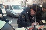В Бишкеке за время двухдневного рейда водворили на штрафные стоянки 52 маршрутных такси