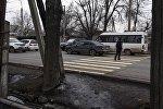 Пешеходный переход через улицу Элебесова (бывшая Советская) возле Витебской