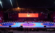 Чемпионат Азии во Дворце спорта имени Каба уулу Кожомкула (город Бишкек). Архивное фото