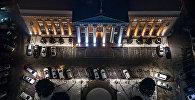 Бишкекская мэрия с высоты птичьего полета. Архивное фото