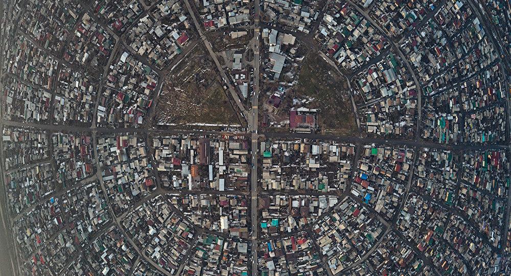 Бишкектин асмандан көрүнүшү. Архивдик сүрөт