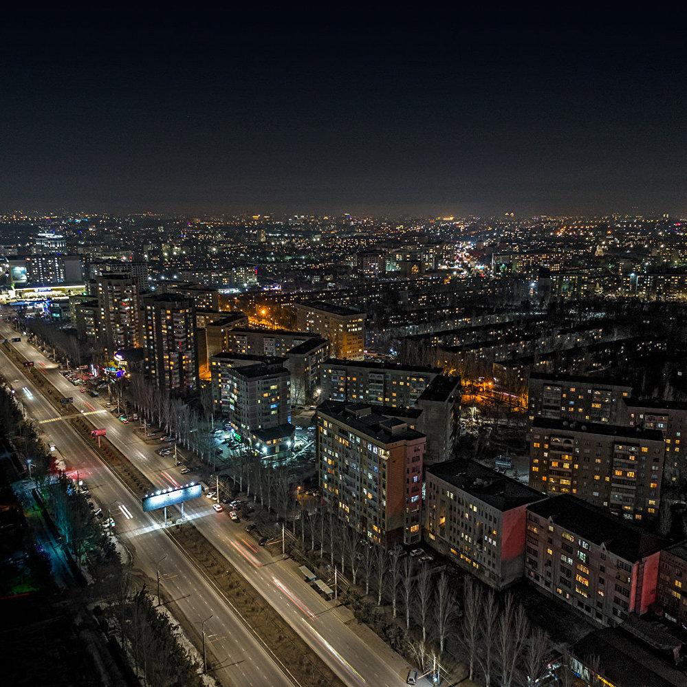 Бишкек с высоты птичьего полета — южный район столицы