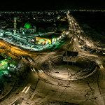 Бишкек с высоты птичьего полета — кольцо Ахунбаева — Шабдан Баатыра