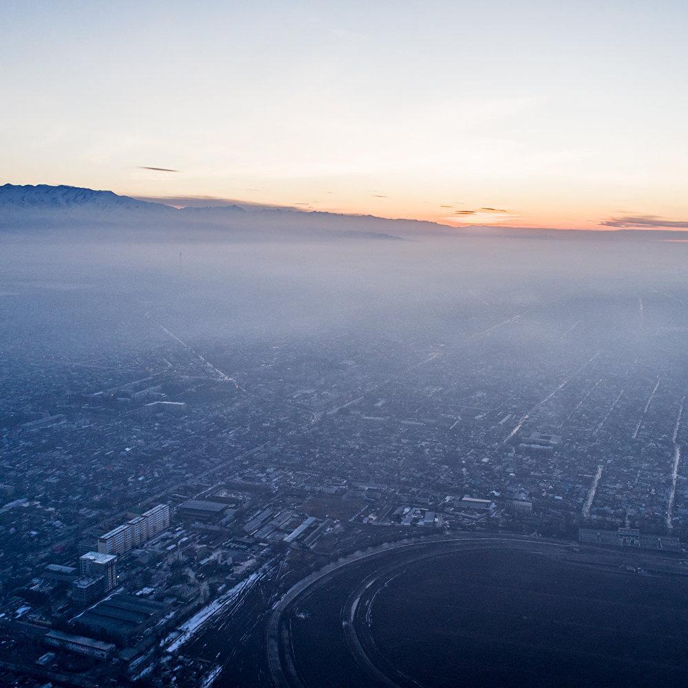 Бишкек с высоты птичьего полета