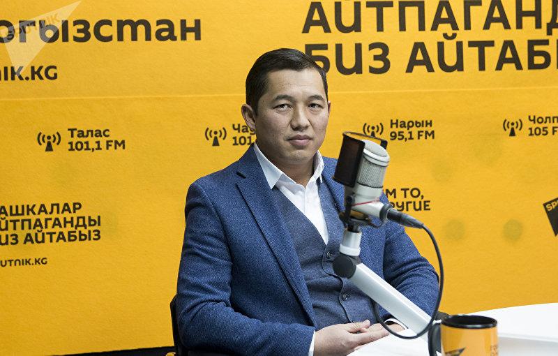 Руководитель колбасного завода Мырзабек Орумбаев во время интервью Sputnik Кыргзыстан