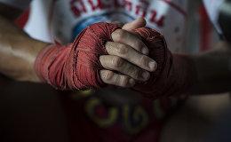 Спортсмен во время тренировок. Архивное фото