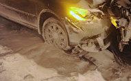 Массововая авария на автодороге между Пушкиным и Шушарами под Санкт-Петербургом