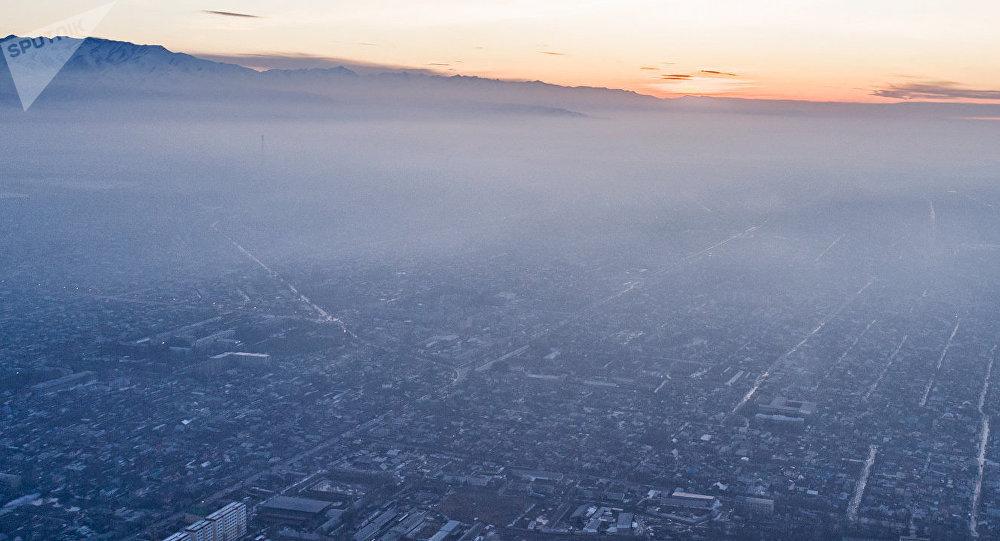 Бишкек с высоты птичьего полета. Архивное фото