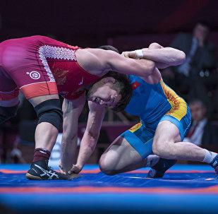 Чемпионат Азии по вольной борьбе во Дворце спорта в Бишкеке