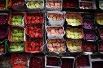 Цветы на рынке. Архивное фото