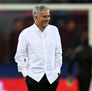 Архивное фото главного тренера ФК Манчестер Юнайтед Жозе Моуринью