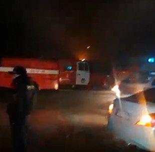 Крупный пожар на Ошском рынке — прямой эфир