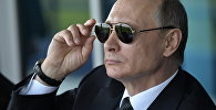 Президент РФ В. Путин посетил Международный авиасалон МАКС-2017 в подмосковном Жуковском