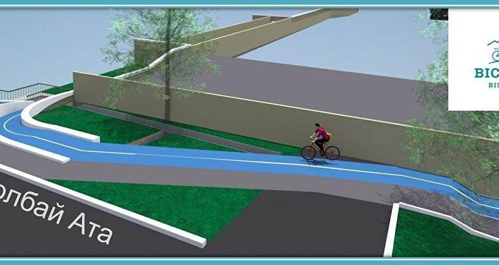 Проект был инициирован велосообществом Кыргызстана несколько лет назад и предложен агентству