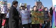 Митинг 8 марта в Бишкеке