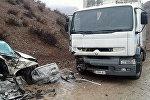 Последствия дтп на автодороге Бишкек — Ош. Архивное фото