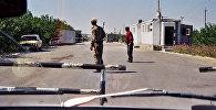 Пограничный пункт на таджикско-узбекской границе. Архивное фото