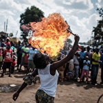 Кенийская группа акробатов Kibera Messenger